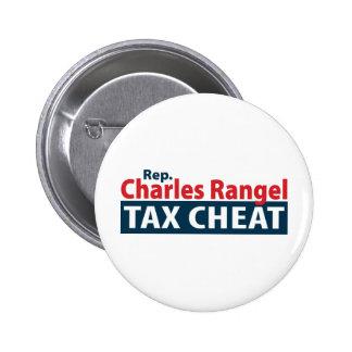 Charles Rangel Tax Cheat Pinback Button