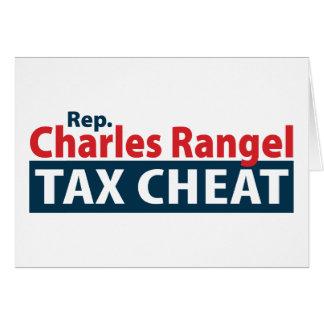 Charles Rangel Tax Cheat Cards