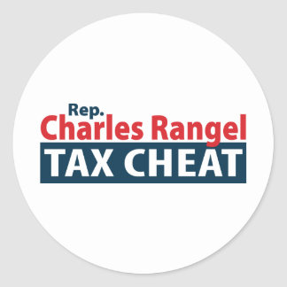 Charles Rangel Tax Cheat Classic Round Sticker