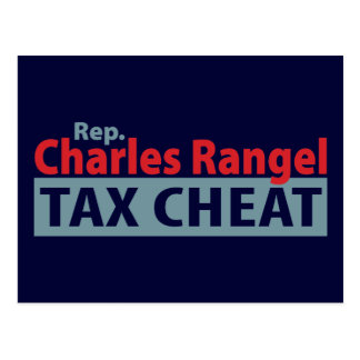 Charles Rangel Tax Cheat Postcards