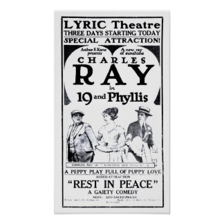 Charles Ray 1921 vintage movie ad poster
