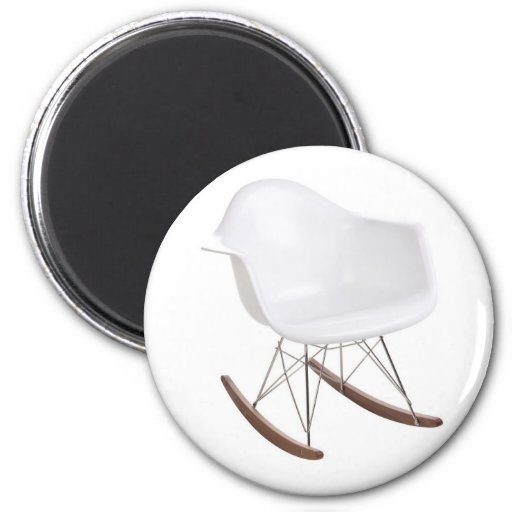 ... & Ray Eames Shell Eiffel Rocking Chair 2 Inch Round Magnet  Zazzle