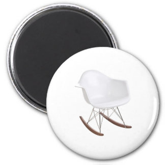 Charles & Ray Eames Shell Eiffel Rocking Chair 2 Inch Round Magnet