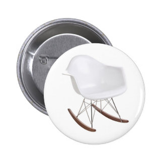 Charles & Ray Eames Shell Eiffel Rocking Chair 2 Inch Round Button