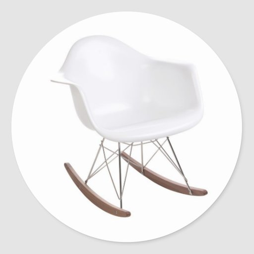 Charles & Ray Eames Shell Eiffel Rocking Chair Round Stickers