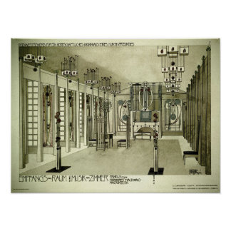 Charles Rennie Mackintosh 1901 Drawing Poster