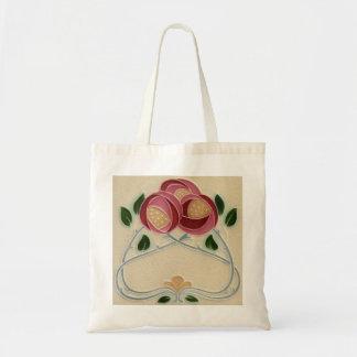 Charles Rennie Mackintosh Pink Red Rose Tote bag