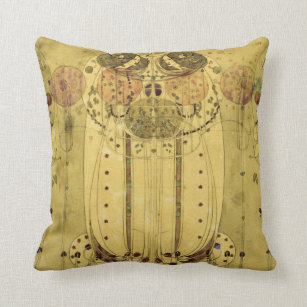 Charles Rennie Mackintosh - The Wassail Throw Pillow