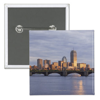 Charles River and The Longfellow Bridge Button