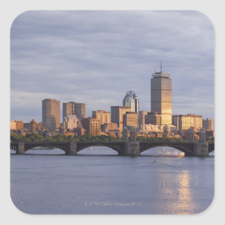 Charles River and The Longfellow Bridge Square Sticker