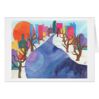 Charles River at Wintertime Card