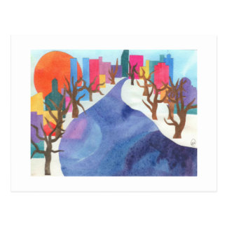 Charles River at Wintertime Postcard