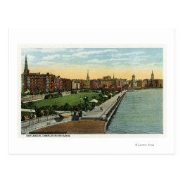 Charles River Basin and Esplanade View Postcard