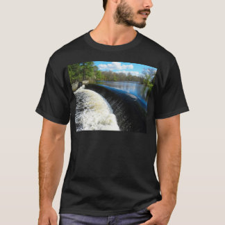 Charles River Falls in South Natick Massacchusetts T-Shirt