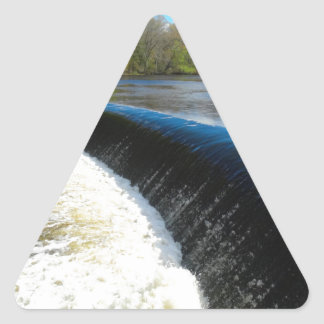 Charles River Falls in South Natick Massacchusetts Triangle Sticker