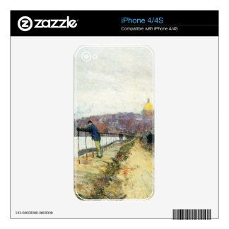 Charles River und Beacon Hill by Childe Hassam iPhone 4S Decal