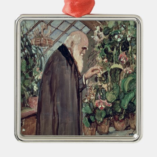 Charles Robert Darwin Metal Ornament