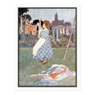 Charles Robinson - The Maid was in the Garden Postcard