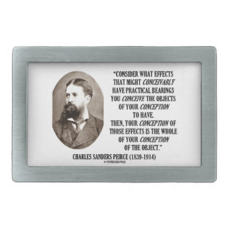 Charles Sanders Peirce Effects Objects Conception Rectangular Belt Buckle