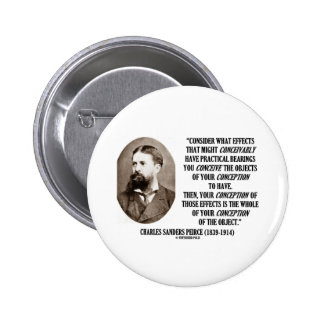 Charles Sanders Peirce Effects Objects Conception Pinback Buttons