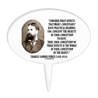 Charles Sanders Peirce Effects Objects Conception Cake Picks