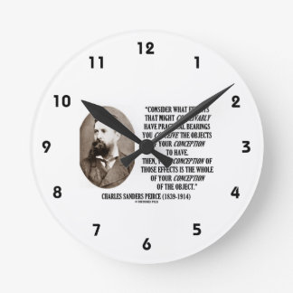 Charles Sanders Peirce Effects Objects Conception Round Clocks