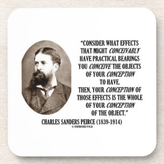 Charles Sanders Peirce Effects Objects Conception Beverage Coaster