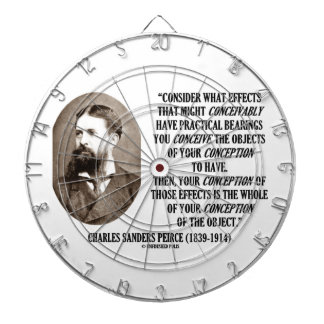 Charles Sanders Peirce Effects Objects Conception Dartboard With Darts
