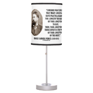 Charles Sanders Peirce Effects Objects Conception Desk Lamp