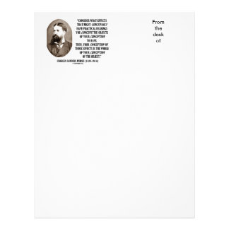 Charles Sanders Peirce Effects Objects Conception Personalized Letterhead