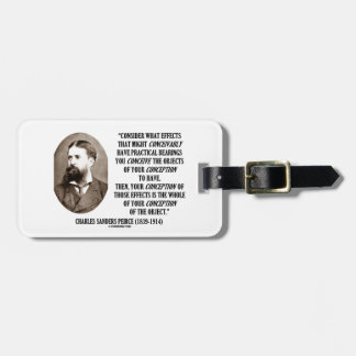Charles Sanders Peirce Effects Objects Conception Luggage Tag