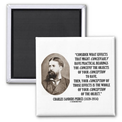 Charles Sanders Peirce Effects Objects Conception Fridge Magnet