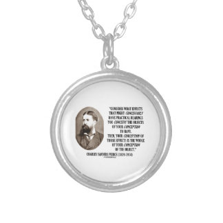 Charles Sanders Peirce Effects Objects Conception Necklace