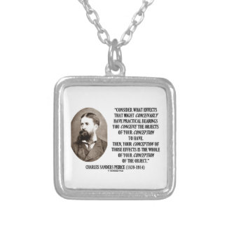 Charles Sanders Peirce Effects Objects Conception Necklaces