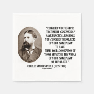 Charles Sanders Peirce Effects Objects Conception Paper Napkin