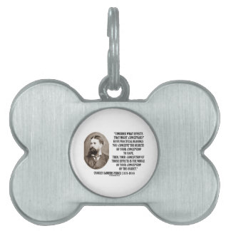 Charles Sanders Peirce Effects Objects Conception Pet ID Tag