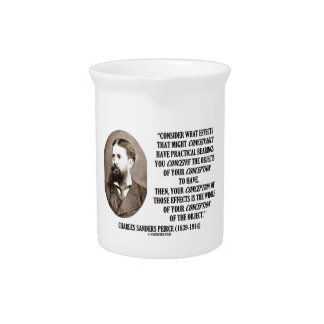 Charles Sanders Peirce Effects Objects Conception Beverage Pitchers