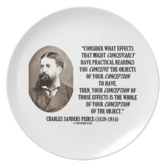 Charles Sanders Peirce Effects Objects Conception Party Plates