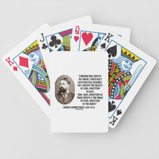 Charles Sanders Peirce Effects Objects Conception Poker Cards