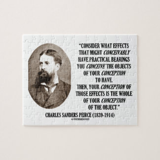 Charles Sanders Peirce Effects Objects Conception Jigsaw Puzzle