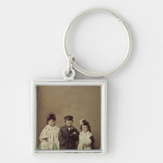 Charles Sherwood Stratton Silver-Colored Square Keychain