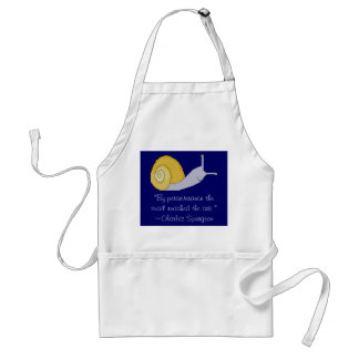 Charles Spurgeon Snail Perseverence Quote Apron