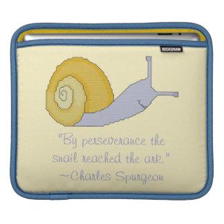 Charles Spurgeon Snail Perseverence Quote iPad Sle iPad Sleeve