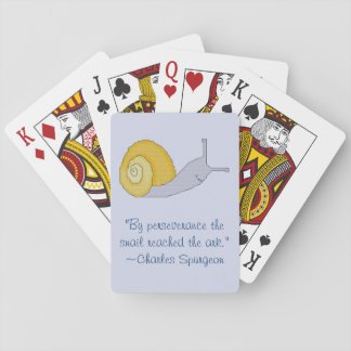 Charles Spurgeon Snail Perseverence Quote Playing Cards