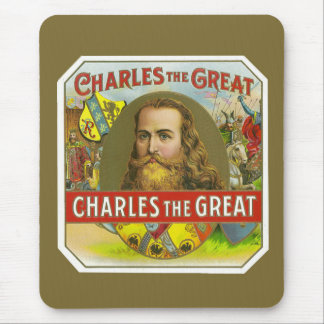 Charles The Great - Vintage Cigar Label Mouse Pad