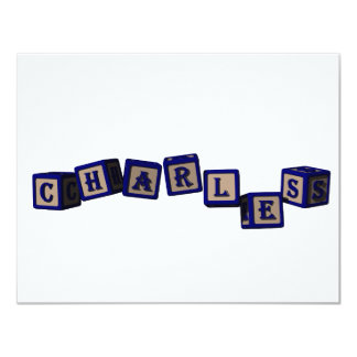 Charles toy blocks in blue card