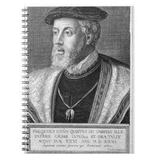 Charles V (1500-58) (grabado) Spiral Notebooks