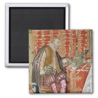Charles V  from 'The Tapestry of Charles 2 Inch Square Magnet