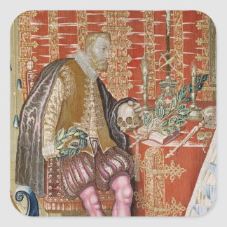 Charles V  from 'The Tapestry of Charles Square Sticker