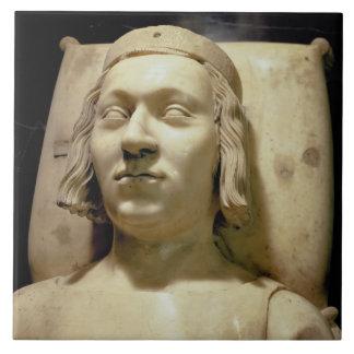 """Charles V (las 1338-80) efigies """"sabia"""" de la tumb Azulejo Cuadrado Grande"""